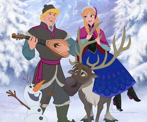 frozen, disney, and anna and kristoff image