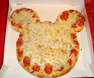 pizza, food, and mickey image