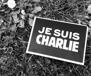black and white, charlie hebdo, and je suis charlie image
