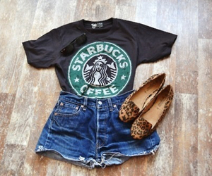 fashion, starbucks, and cute image