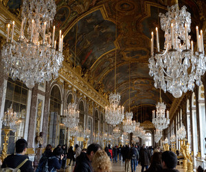 hall, mirrors, and vaersailles image