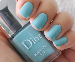 nails, dior, and blue image