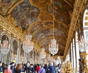 ceiling, windows, and france image