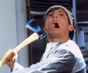 american psycho, funny, and christian bale image