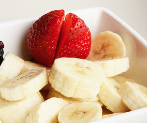 strawberry, banana, and food image