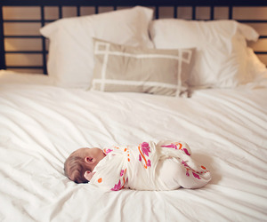 baby girl, bedroom, and sleeping image