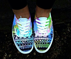 vans, shoes, and neon image