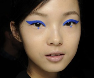 asian, beauty, and blue image