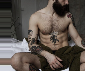 abs, bearded, and hair image