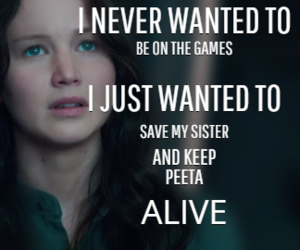 quote, the hunger games, and katniss image
