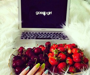 fruit, food, and nails image