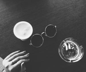 black and white and cigarette image