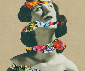 art, flowers, and Collage image
