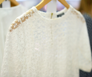 clothes, embroidery, and white image