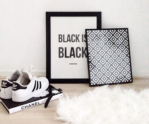 chanel, adidas, and black image