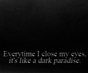 dark, eyes, and paradise image