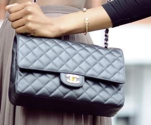 chanel, bag, and skirt image