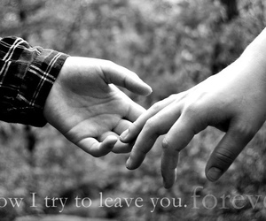 forever, hurt, and leave image