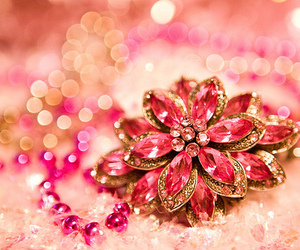 flower, glam, and pink image