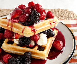 food, waffles, and berries image