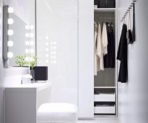 white, closet, and interior image