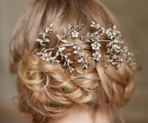 hair, bride, and wedding image