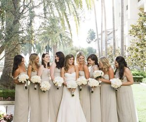 wedding and bridesmaid image
