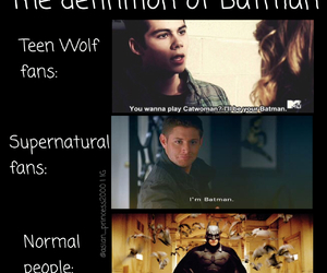 batman, dean, and supernatural image
