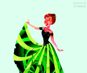 anna, disney, and flowers image