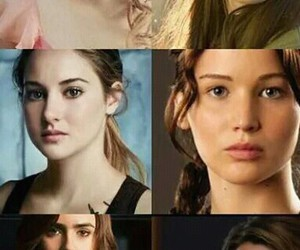 hunger games, the mortal instruments, and divergent image