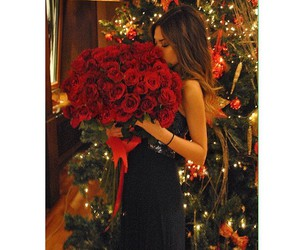 girl, fashion, and roses image