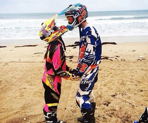 motocross and love image
