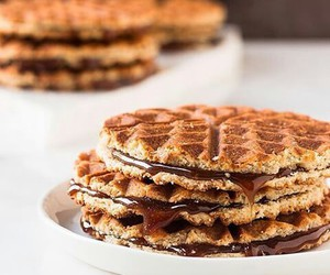 chocolate, waffles, and delicious image