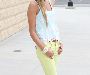blonde, spring, and fashion image