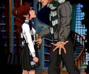 disney, belle, and hogwarts image