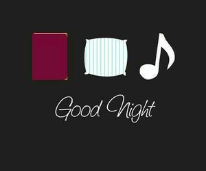 night, book, and music image