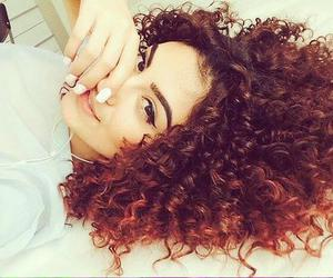 curls, curly hair, and hair image