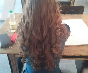 curls, curly, and girl image