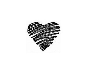 love, heart, and black image