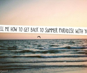 simple plan and summer paradise image
