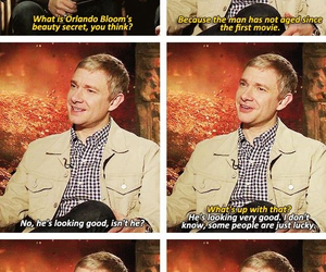 Martin Freeman, orlando bloom, and the hobbit image