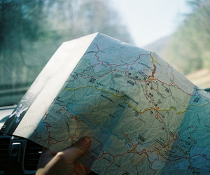 map, travel, and indie image