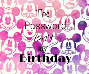 birthday, password, and wallpaper image