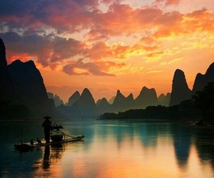 nature, china, and water image
