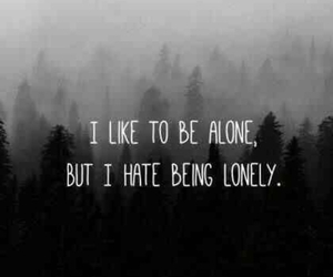 alone, text, and depression image