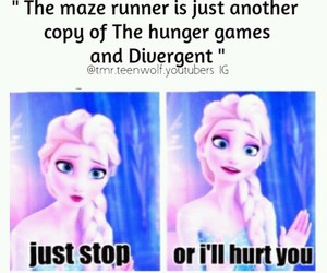 divergent, frozen, and hunger games image