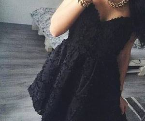 black and dress image