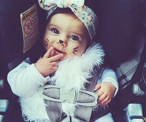 baby, cute, and cat image