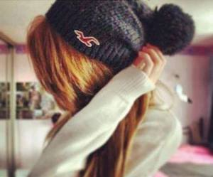 girl, hair, and hollister image