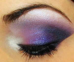 makeup, purple, and eye shadow image